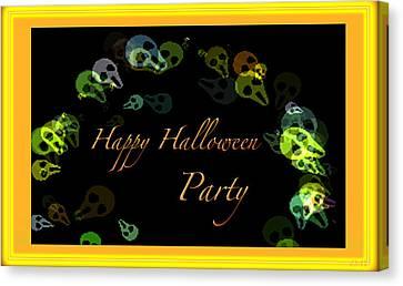 Halloween Party Canvas Print by Debra     Vatalaro