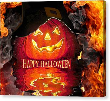 Halloween Pumpkin Canvas Print by Rick Friedle
