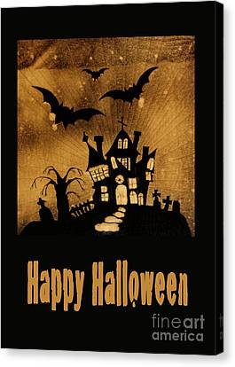 Halloween Quilt Top Canvas Print by Nancy Greenland