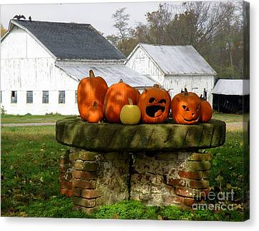 Canvas Print featuring the photograph Halloween Scene by Lainie Wrightson