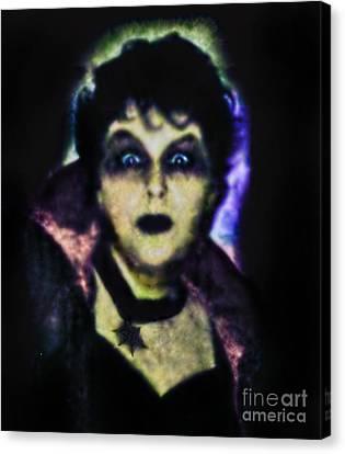 Halloween Vampire Look Canvas Print by Alexandra Jordankova