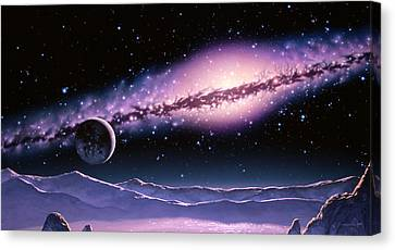 Halo Planet Canvas Print by Joe Tucciarone