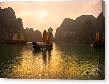 Canvas Print featuring the photograph Halong Bay - Vietnam by Luciano Mortula