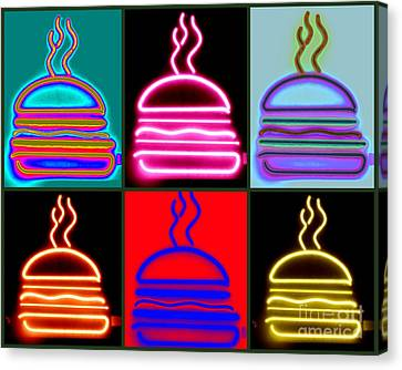 Canvas Print featuring the photograph Hamburgers  by France Laliberte