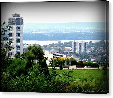 Canvas Print featuring the photograph Hamilton Downtown View From  by Danielle  Parent