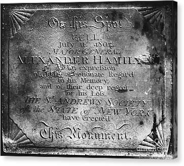 Hamilton: Pamphlet, 1797 Canvas Print by Granger