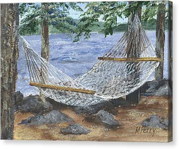 Hammock At Bear Island Canvas Print
