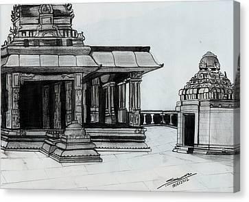 Hampi Stone Structure 2 Canvas Print by Shashi Kumar