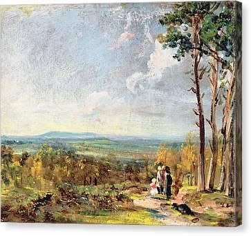 Hampstead Heath Looking Towards Harrow Canvas Print by John Constable