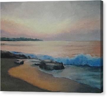 Hampton Beach Predawn Canvas Print by Mark Haley