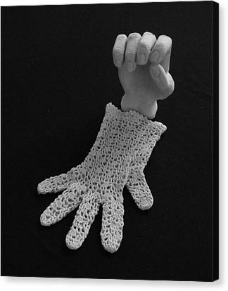 Canvas Print featuring the sculpture Hand And Glove by Barbara St Jean