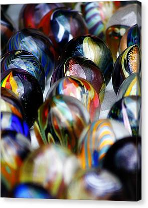 Hand Crafted Marbles Canvas Print by Scott Hovind