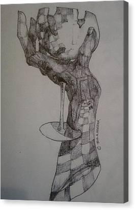 Hand Of An Artist Canvas Print by Paul Morgan