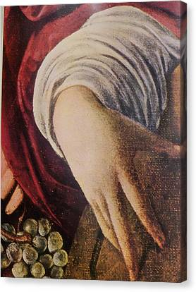 Hand Of The Lute Player From The Musicians Caravaggio Canvas Print by Jake Hartz