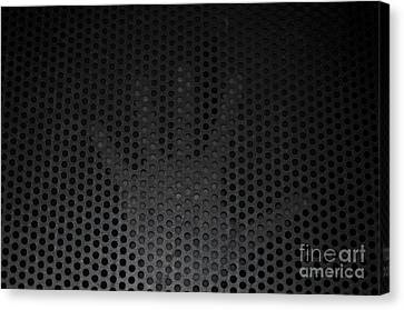 Hand On Metal Grating Canvas Print by Mats Silvan