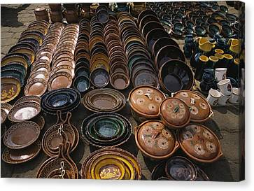 Handmade Ceramics And Pottery For Sale Canvas Print by Gina Martin