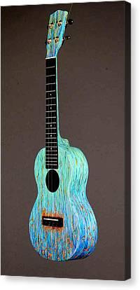 Handpainted Pono Concert Ukulele Canvas Print by Jean Groberg