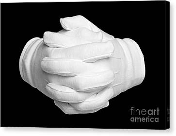 Hands Clenched Canvas Print by Richard Thomas