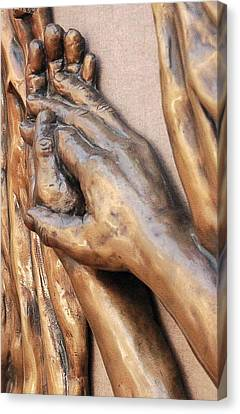 Hands Of Faith Canvas Print by David Schmerer