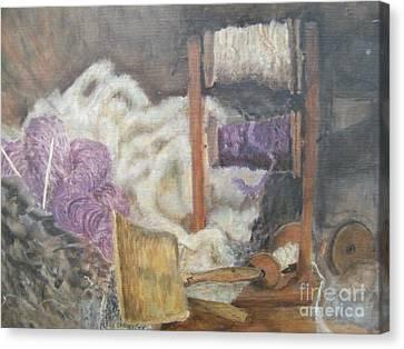 Handspun Canvas Print by Delores Swanson