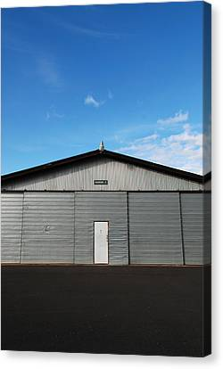 Canvas Print featuring the photograph Hangar 2 by Kathleen Grace