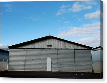 Canvas Print featuring the photograph Hangar 2 The Building by Kathleen Grace
