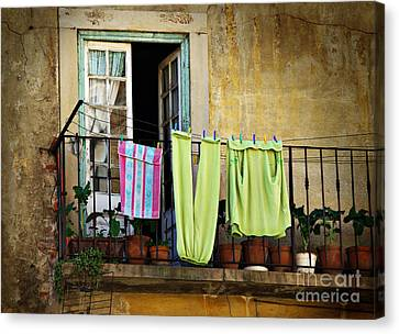 Hanged Clothes Canvas Print by Carlos Caetano