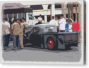 Hanging At The Car Show Canvas Print by Steve McKinzie