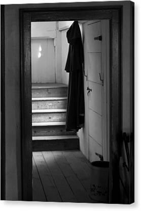Hanging Cloak Canvas Print by Ed Bertorello