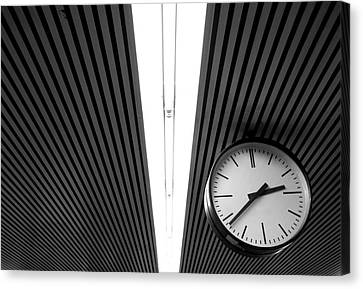 Hanging Clock Canvas Print by Christoph Hetzmannseder