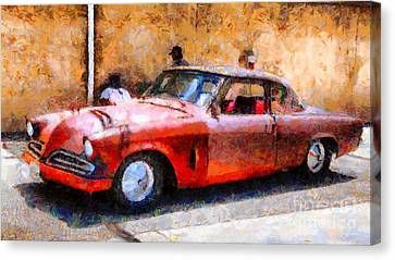 Hanging With My Buddy . 1953 Studebaker . Painterly . 5d16513 Canvas Print by Wingsdomain Art and Photography