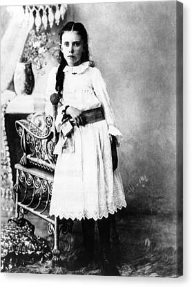 Hannah Milhaus At The Age Of 10. The Canvas Print by Everett