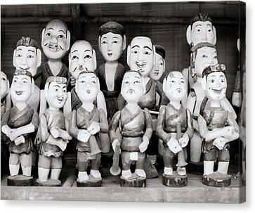 Hanoi Water Puppets Canvas Print by Shaun Higson