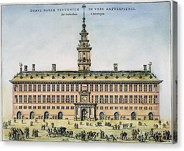 Hanseatic League, Antwerp Canvas Print by Granger