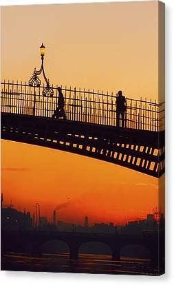 Hapenny Bridge, Dublin, Co Dublin Canvas Print by The Irish Image Collection