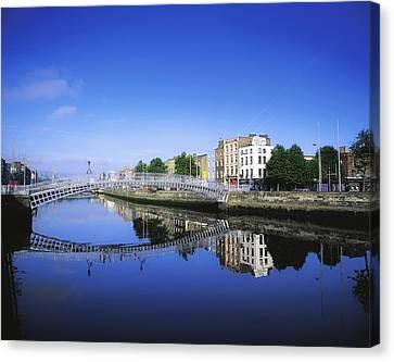 Localities Canvas Print - Hapenny Bridge, River Liffey, Dublin by The Irish Image Collection