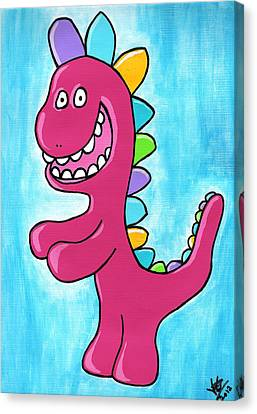 Happosaur Canvas Print by Jera Sky