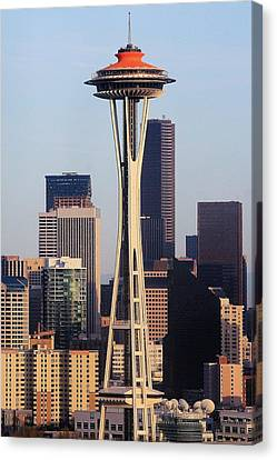 Happy 50th Space Needle Canvas Print by Benjamin Yeager