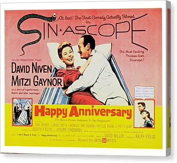 Happy Anniversary, Mitzi Gaynor, David Canvas Print