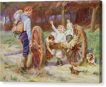 Happy As The Days Are Long Canvas Print by Frederick Morgan