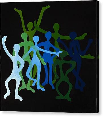 Happy Dancers Canvas Print by Michelle Wiarda