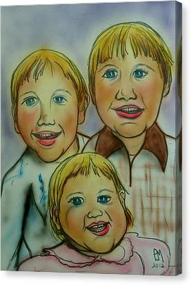 Caricature Portraits Canvas Print - Happy Days by Pete Maier
