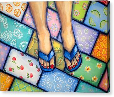 Happy Feet Canvas Print by Sandra Lett