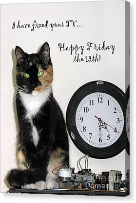 Canvas Print featuring the photograph Happy Friday The 13th by Ausra Huntington nee Paulauskaite