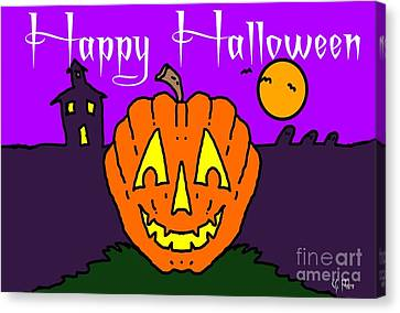 Happy Halloween 2 Canvas Print by George Pedro