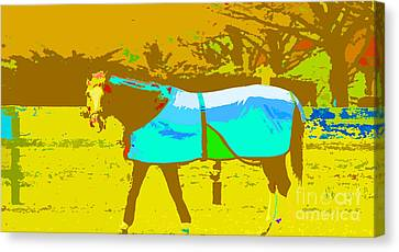 Happy Horse Pop Art Canvas Print by Artyzen Studios