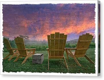 Happy Hour Canvas Print by Debra and Dave Vanderlaan