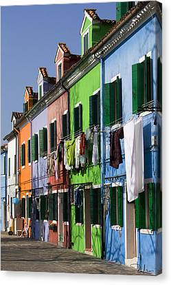Canvas Print featuring the photograph Happy Houses by Raffaella Lunelli