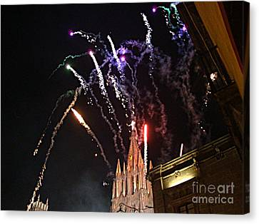Canvas Print featuring the photograph Happy New Year by John  Kolenberg