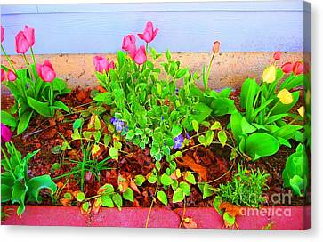 Canvas Print featuring the photograph Happy Spring by Ann Johndro-Collins